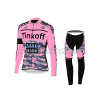2015 Team Tinkoff SAXO BANK Women's Cycling Long Kit Pink Black