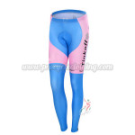 2015 Team Tinkoff SAXO BANK Women's Cycling Long Pants Tights Pink Blue