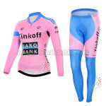 2015 Team Tinkoff SAXO BANK Women's Cycling Long Suit Pink Blue