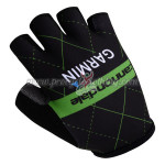 2015 Team cannondale GARMIN Cycling Gloves Mitts Half Fingers Black Green