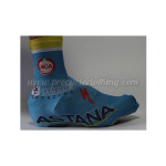 2014 Team ASTANA Cycling Shoes Covers Blue
