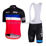 2015 Team SKY Rapha Cycling Bib Kit Black Blue Red