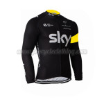 2015 Team SKY Rapha Cycling Long Jersey Black Yellow