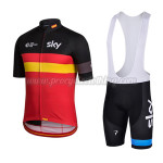 2015 Team SKY Rapha Riding Bib Kit Black Red Yellow