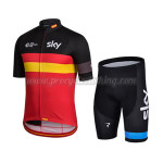 2015 Team SKY Rapha Riding Kit Black Red Yellow