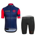 2015 WIGGINS Cycling Kit Blue Red