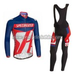 2014 Team ShanDian Cycling Long Bib Suit Blue Red