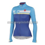 2015 Team Castelli Womens' Cycling Long Jersey Blue