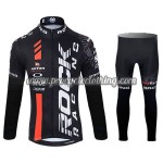 2015 Team ROCK RACING Biking Long Suit Black Red
