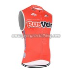 2015 Team RusVelo Cycling Sleeveless Jersey Vest Red