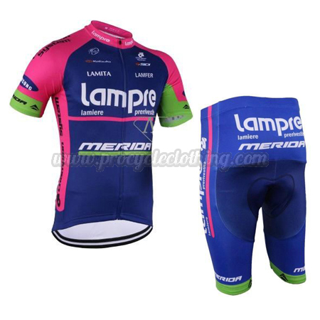 2016 Team Lampre MERIDA Pro Bike Clothing Set Cycle Jersey and ... 75ffbe9a8