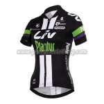 2015 Team Liv Plantur Ladies' Cycling Jersey Black Green