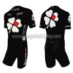 2010 Team FDJ Racing Triathlon Cycling Wear Skinsuit Black
