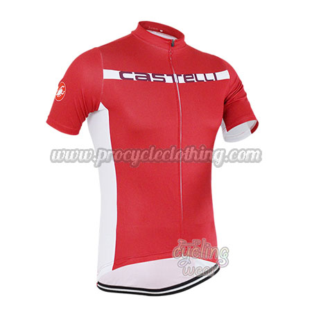 15563c799 2016 Team Castelli Pro Bicycle Apparel Riding Jersey Maillot Red ...