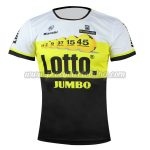 2016 Team LOTTO JUMBO Outdoor Sport Apparel Biking Sweatshirt Round Neck T-shirt Yellow Black
