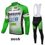 2016 Team BARDIANI CSF Riding Long Bib Suit Green