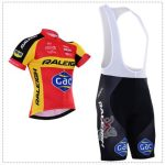 2016 Team RALEIGH Gac Biking Bib Kit Red Yellow