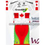 2012 Team GreenEDGE Canada Riding Kit White Red Green