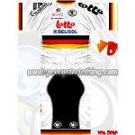2012 Team LOTTO BELISOL Germany Riding Kit White Red Yellow