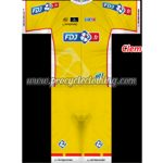 2013 Team FDJ Riding Suit Yellow