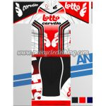 2013 Team LOTTO cervelo Cycling Kit Red White Black