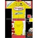 2014 Team LOTTO WALLONIE TRBA Cycling Kit Yellow Red