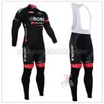 2016 Team BORA ARGON 18 Cycling Long Bib Suit Black