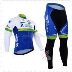 2016 Team ORICA GreenEDGE Cycling Long Suit White Blue