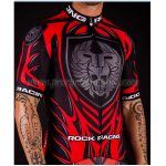 2016 Team ROCK RACING Cycling Jersey Maillot Shirt Red Black