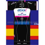 2016 Team etixxl QUICK STEP latexco Riding Kit Black Blue Pink