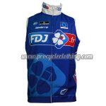 2014 Team FDJ Cycling Vest Sleeveless Waistcoat Rain-proof Windbreak Blue