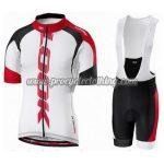 2016 Team ROCK RACING Cycling Bib Kit White Red Black