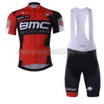 2017 Team BMC Cycling Bib Kit Red Black