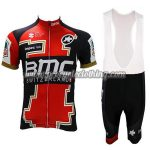 2017 Team BMC Cycling Bib Kit Red Black White
