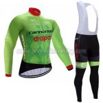 2017 Team Cannondale drapac Cycling Long Bib Suit Green Black
