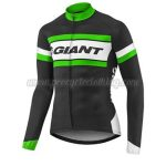2017 Team GIANT Cycling Long Jersey Maillot Black White Green