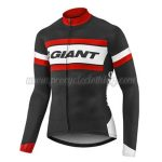 2017 Team GIANT Riding Long Jersey Maillot Black White Red