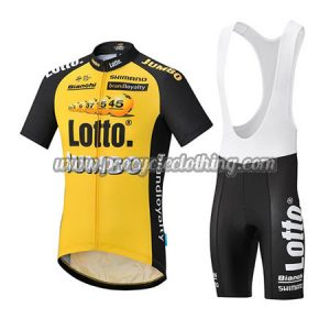2017 Team LOTTO JUMBO Cycling Bib Kit Yellow Black