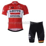 2017 Team LOTTO SOUDAL Bicycle Kit Red