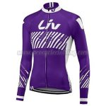 2017 Team Liv Womens Lady Cycling Long Jersey Maillot Purple