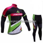 2017 Team MERIDA Cycle Suit Black Green Pink
