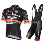 2015 Team DE ROSA Santini Cycling Bib Kit Black