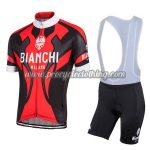 2016 Team BIANCHI MILANO Cycle Bib Kit Red Black