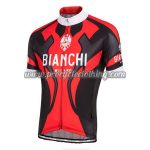 2016 Team BIANCHI MILANO Cycle Jersey Maillot Shirt Red Black