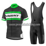 2017 Team GIANT Cycle Bib Kit Black White Green