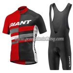 2017 Team GIANT Riding Bib Kit Red Black