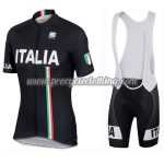 2017 Team ITALIA Sportful Cycle Bib Kit Black