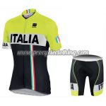 2017 Team ITALIA Sportful Cycle Kit Yellow Black