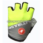 2017 Team Castelli Riding Gloves Mitts Half Fingers Grey Yellow