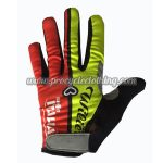 2017 Team ITALIA Cycling Full Fingers Gloves Yellow Red